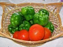Tomatoes and green peppers